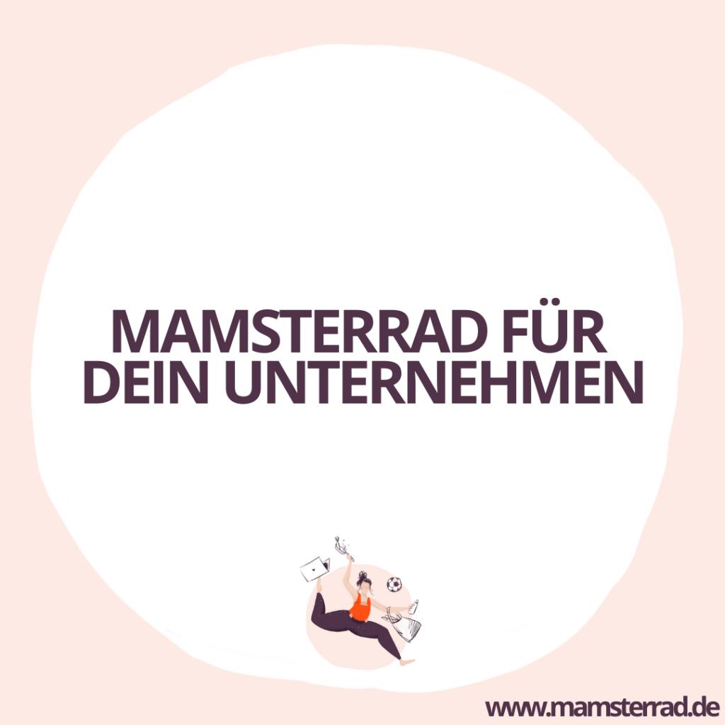 Mamsterrad Kooperation: Mamsterrad für dein Unternehmen